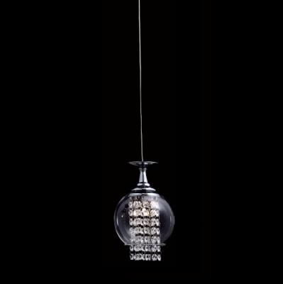 Светильник подвесной Crystal lux CHIK SP1 CHROME 1380/201одиночные подвесные светильники<br>Подвесной светильник – это универсальный вариант, подходящий для любой комнаты. Сегодня производители предлагают огромный выбор таких моделей по самым разным ценам. В каталоге интернет-магазина «Светодом» мы собрали большое количество интересных и оригинальных светильников по выгодной стоимости. Вы можете приобрести их в Москве, Екатеринбурге и любом другом городе России. <br>Подвесной светильник Crystal lux CHIK SP1 CHROME сразу же привлечет внимание Ваших гостей благодаря стильному исполнению. Благородный дизайн позволит использовать эту модель практически в любом интерьере. Она обеспечит достаточно света и при этом легко монтируется. Чтобы купить подвесной светильник Crystal lux CHIK SP1 CHROME, воспользуйтесь формой на нашем сайте или позвоните менеджерам интернет-магазина.<br><br>S освещ. до, м2: 1<br>Тип цоколя: G4<br>Цвет арматуры: Серебристый Серебристый хром<br>Количество ламп: 1<br>Диаметр, мм мм: 150<br>Длина цепи/провода, мм: 1000<br>Высота, мм: 230<br>MAX мощность ламп, Вт: 20