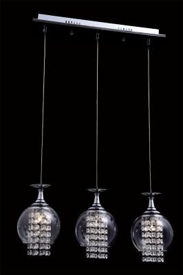 Светильник подвесной Crystal lux CHIK SP3 CHROME 1380/203Тройные<br>Подвесной светильник – это универсальный вариант, подходящий для любой комнаты. Сегодня производители предлагают огромный выбор таких моделей по самым разным ценам. В каталоге интернет-магазина «Светодом» мы собрали большое количество интересных и оригинальных светильников по выгодной стоимости. Вы можете приобрести их в Москве, Екатеринбурге и любом другом городе России.  Подвесной светильник Crystal lux CHIK SP3 CHROME сразу же привлечет внимание Ваших гостей благодаря стильному исполнению. Благородный дизайн позволит использовать эту модель практически в любом интерьере. Она обеспечит достаточно света и при этом легко монтируется. Чтобы купить подвесной светильник Crystal lux CHIK SP3 CHROME, воспользуйтесь формой на нашем сайте или позвоните менеджерам интернет-магазина.<br><br>S освещ. до, м2: 3<br>Тип цоколя: G4<br>Цвет арматуры: Серебристый Серебристый хром<br>Количество ламп: 3<br>Диаметр, мм мм: 150<br>Длина цепи/провода, мм: 1000<br>Длина, мм: 520<br>Высота, мм: 230<br>MAX мощность ламп, Вт: 20