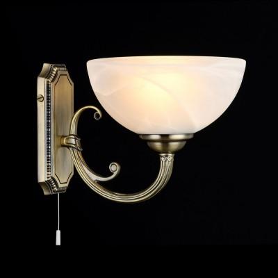 Светильник Maytoni CL1012-01-RКлассика<br><br><br>Тип лампы: Накаливания / энергосбережения / светодиодная<br>Тип цоколя: E27<br>Количество ламп: 1<br>MAX мощность ламп, Вт: 60<br>Расстояние от стены, мм: 255<br>Высота, мм: 178<br>Цвет арматуры: бронзовый
