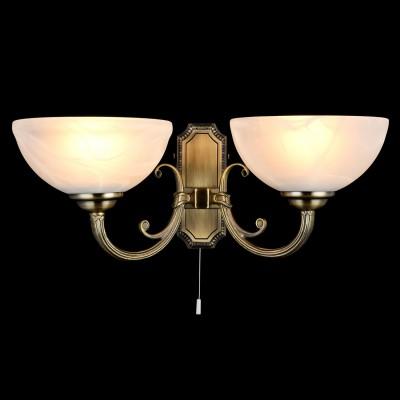 Светильник Maytoni CL1012-02-RКлассические<br><br><br>Тип лампы: Накаливания / энергосбережения / светодиодная<br>Тип цоколя: E27<br>Цвет арматуры: бронзовый<br>Количество ламп: 2<br>Ширина, мм: 220<br>Высота, мм: 190<br>MAX мощность ламп, Вт: 60