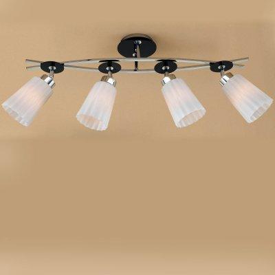 Citilux CL148141 Люстра потолочнаяспоты 4 лампы<br>Компания «Светодом» предлагает широкий ассортимент люстр от известных производителей. Представленные в нашем каталоге товары выполнены из современных материалов и обладают отличным качеством. Благодаря широкому ассортименту Вы сможете найти у нас люстру под любой интерьер. Мы предлагаем как классические варианты, так и современные модели, отличающиеся лаконичностью и простотой форм.  Стильная люстра Citilux CL148141 станет украшением любого дома. Эта модель от известного производителя не оставит равнодушным ценителей красивых и оригинальных предметов интерьера. Люстра Citilux CL148141 обеспечит равномерное распределение света по всей комнате. При выборе обратите внимание на характеристики, позволяющие приобрести наиболее подходящую модель.  Купить понравившуюся люстру по доступной цене Вы можете в интернет-магазине «Светодом». Мы предлагаем также самовывоз со склада не только по Москве и Екатеринбурге, но и по всей России.<br><br>Установка на натяжной потолок: Да<br>S освещ. до, м2: 20<br>Крепление: Планка<br>Тип лампы: накаливания / энергосбережения / LED-светодиодная<br>Тип цоколя: E27<br>Цвет арматуры: серебристый хром, черный<br>Количество ламп: 4<br>Ширина, мм: 140<br>Размеры: Габариты 78х14 см. Высота 32 см.<br>Длина, мм: 780<br>Высота, мм: 320<br>Поверхность арматуры: глянцевый<br>MAX мощность ламп, Вт: 75