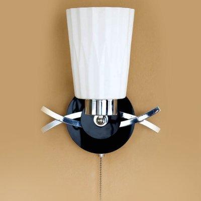 Citilux CL148311 Светильник настенный браСовременные<br><br><br>S освещ. до, м2: 5<br>Тип лампы: накаливания / энергосбережения / LED-светодиодная<br>Тип цоколя: E27<br>Количество ламп: 1<br>Ширина, мм: 210<br>MAX мощность ламп, Вт: 75<br>Размеры: Ширина 21 см. Высота 25 см. Глубина 14 см.<br>Расстояние от стены, мм: 140<br>Высота, мм: 250<br>Поверхность арматуры: глянцевый<br>Цвет арматуры: серебристый хром, черный