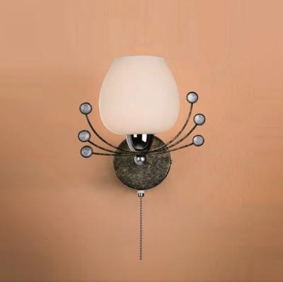 Citilux Сюита CL153311 Светильник настенный браФлористика<br><br><br>S освещ. до, м2: 4<br>Тип лампы: накаливания / энергосбережения / LED-светодиодная<br>Тип цоколя: E14<br>Количество ламп: 1<br>Ширина, мм: 200<br>MAX мощность ламп, Вт: 60<br>Расстояние от стены, мм: 180<br>Высота, мм: 220<br>Поверхность арматуры: глянцевый, матовый<br>Цвет арматуры: коричневый