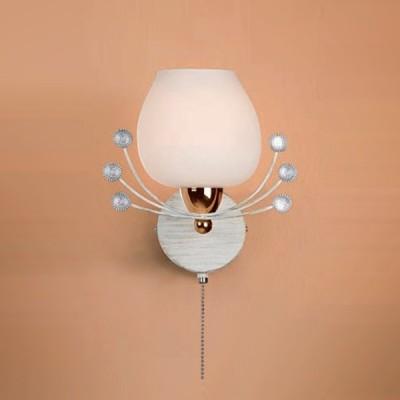 Citilux CL153312 Светильник настенный браФлористика<br><br><br>S освещ. до, м2: 4<br>Тип лампы: накаливания / энергосбережения / LED-светодиодная<br>Тип цоколя: E14<br>Количество ламп: 1<br>Ширина, мм: 200<br>MAX мощность ламп, Вт: 60<br>Расстояние от стены, мм: 180<br>Высота, мм: 220<br>Поверхность арматуры: глянцевый, матовый<br>Цвет арматуры: белый, золотой