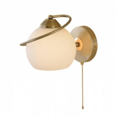 Citilux Лайма CL155312 Светильник настенный браМодерн<br><br><br>S освещ. до, м2: 6<br>Тип лампы: накаливания / энергосбережения / LED-светодиодная<br>Тип цоколя: E27<br>Количество ламп: 1<br>Ширина, мм: 160<br>MAX мощность ламп, Вт: 100<br>Размеры: Высота 16см, Ширина 16см, Глубина 21см, Выдувное молочнобелое стекло, С выключателем.Запасное стекло<br>Длина, мм: 210<br>Высота, мм: 160<br>Поверхность арматуры: глянцевый<br>Оттенок (цвет): белый<br>Цвет арматуры: золотой