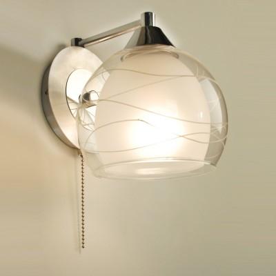 Citilux Буги CL157312 Светильник настенный браМодерн<br><br><br>S освещ. до, м2: 5<br>Тип лампы: накаливания / энергосбережения / LED-светодиодная<br>Тип цоколя: E27<br>Количество ламп: 1<br>Ширина, мм: 150<br>MAX мощность ламп, Вт: 75<br>Размеры: Высота 16 см. Ширина 14,5 см. Глубина 17,5 см.<br>Длина, мм: 180<br>Высота, мм: 160<br>Оттенок (цвет): белый<br>Цвет арматуры: серебристый