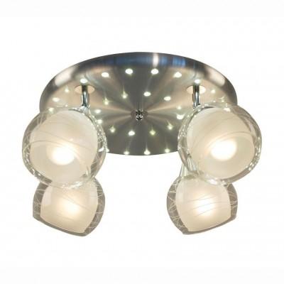 Citilux Самба CL158142 Люстра потолочная со светодиодной подсветкойПоворотные<br>Компания «Светодом» предлагает широкий ассортимент люстр от известных производителей. Представленные в нашем каталоге товары выполнены из современных материалов и обладают отличным качеством. Благодаря широкому ассортименту Вы сможете найти у нас люстру под любой интерьер. Мы предлагаем как классические варианты, так и современные модели, отличающиеся лаконичностью и простотой форм.  Стильная люстра Citilux CL158142 станет украшением любого дома. Эта модель от известного производителя не оставит равнодушным ценителей красивых и оригинальных предметов интерьера. Люстра Citilux CL158142 обеспечит равномерное распределение света по всей комнате. При выборе обратите внимание на характеристики, позволяющие приобрести наиболее подходящую модель.  Купить понравившуюся люстру по доступной цене Вы можете в интернет-магазине «Светодом».<br><br>Установка на натяжной потолок: Ограничено<br>S освещ. до, м2: 20<br>Крепление: Планка<br>Тип лампы: накаливания / энергосбережения / LED-светодиодная<br>Тип цоколя: E27<br>Количество ламп: 4<br>MAX мощность ламп, Вт: 75<br>Диаметр, мм мм: 430<br>Размеры: Диаметр 42,5 см. Высота 22,5 см.Стекло 157.11.1<br>Высота, мм: 230<br>Оттенок (цвет): белый<br>Цвет арматуры: серебристый