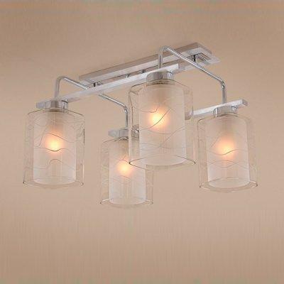 Citilux Румба CL159142 ЛюстраПотолочные<br><br><br>Установка на натяжной потолок: Да<br>S освещ. до, м2: 15<br>Крепление: Планка<br>Тип товара: Люстра<br>Тип лампы: накаливания / энергосбережения / LED-светодиодная<br>Тип цоколя: E27<br>Количество ламп: 4<br>Ширина, мм: 300<br>MAX мощность ламп, Вт: 75<br>Длина, мм: 350<br>Высота, мм: 500<br>Поверхность арматуры: глянцевый<br>Цвет арматуры: серебристый