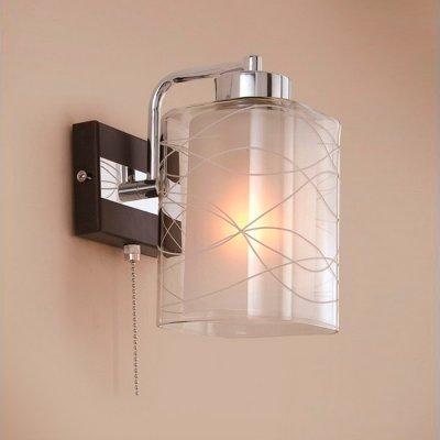 Citilux Румба CL159311 Светильник настенный браСовременные<br><br><br>S освещ. до, м2: 5<br>Тип лампы: накаливания / энергосбережения / LED-светодиодная<br>Тип цоколя: E27<br>Цвет арматуры: серебристый хром, венге<br>Количество ламп: 1<br>Ширина, мм: 150<br>Расстояние от стены, мм: 180<br>Высота, мм: 250<br>MAX мощность ламп, Вт: 75