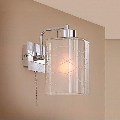 Citilux Румба CL159312 Светильник настенный браСовременные<br><br><br>S освещ. до, м2: 5<br>Тип лампы: накаливания / энергосбережения / LED-светодиодная<br>Тип цоколя: E27<br>Цвет арматуры: серебристый хром, алюминий<br>Количество ламп: 1<br>Ширина, мм: 150<br>Расстояние от стены, мм: 180<br>Высота, мм: 250<br>Поверхность арматуры: глянцевый<br>MAX мощность ламп, Вт: 75