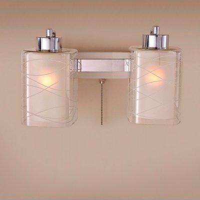 Citilux Румба CL159320 Светильник настенный браСовременные<br><br><br>S освещ. до, м2: 10<br>Тип лампы: накаливания / энергосбережения / LED-светодиодная<br>Тип цоколя: E27<br>Количество ламп: 2<br>Ширина, мм: 300<br>MAX мощность ламп, Вт: 75<br>Расстояние от стены, мм: 180<br>Высота, мм: 250<br>Поверхность арматуры: глянцевый, матовый<br>Цвет арматуры: серебристый