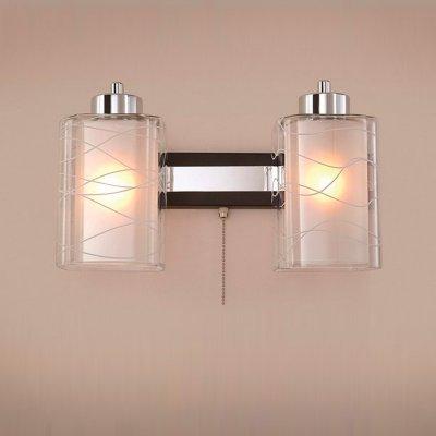 Citilux Румба CL159321 Светильник настенный браСовременные<br><br><br>S освещ. до, м2: 10<br>Тип лампы: накаливания / энергосбережения / LED-светодиодная<br>Тип цоколя: E27<br>Количество ламп: 2<br>Ширина, мм: 300<br>MAX мощность ламп, Вт: 75<br>Расстояние от стены, мм: 180<br>Высота, мм: 250<br>Поверхность арматуры: глянцевый, матовый<br>Цвет арматуры: серебристый хром, венге