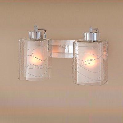 Citilux Румба CL159322 Светильник настенный браСовременные<br><br><br>S освещ. до, м2: 10<br>Тип лампы: накаливания / энергосбережения / LED-светодиодная<br>Тип цоколя: E27<br>Цвет арматуры: серебристый хром, алюминий<br>Количество ламп: 2<br>Ширина, мм: 300<br>Расстояние от стены, мм: 180<br>Высота, мм: 250<br>Поверхность арматуры: глянцевый<br>MAX мощность ламп, Вт: 75
