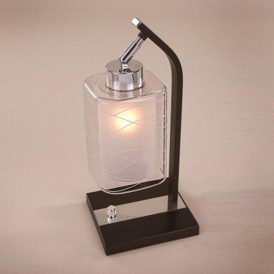 Citilux Румба CL159811 Настольная лампаСовременные настольные лампы модерн<br>Настольная лампа – это не просто источник дополнительного освещения, но и оригинальный элемент декора. Его можно установить в спальне, гостиной, кабинете и других комнатах. Интернет-магазин «Светодом» предлагает настольные лампы разных стилей по доступным ценам. Благодаря большому ассортименту Вы обязательно найдете в нашем каталоге именно ту модель, которую искали.   Настольная лампа Citilux CL159811 – прекрасный вариант для завершения интерьера. Ее можно включить одновременно с люстрой для более яркого освещения или без нее для создания уютной атмосферы, настраивающей на отдых.   Купить настольную лампу Citilux CL159811 Вы можете с помощью виртуальной «Корзины» или по контактным номерам, указанным на сайте.<br><br>S освещ. до, м2: 5<br>Тип лампы: накаливания / энергосбережения / LED-светодиодная<br>Тип цоколя: E27<br>Цвет арматуры: серебристый хром, венге<br>Количество ламп: 1<br>Ширина, мм: 180<br>Длина, мм: 180<br>Высота, мм: 300<br>Поверхность арматуры: глянцевый, матовый<br>MAX мощность ламп, Вт: 75