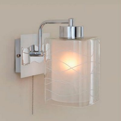 Citilux Прима CL160311 Светильник настенный браМодерн<br><br><br>S освещ. до, м2: 5<br>Тип лампы: накаливания / энергосбережения / LED-светодиодная<br>Тип цоколя: E27<br>Количество ламп: 1<br>Ширина, мм: 150<br>MAX мощность ламп, Вт: 75<br>Расстояние от стены, мм: 180<br>Высота, мм: 250<br>Цвет арматуры: серебристый хром, белый