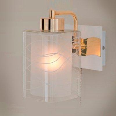 Citilux Прима CL160312 Светильник настенный браСовременные<br><br><br>S освещ. до, м2: 5<br>Тип лампы: накаливания / энергосбережения / LED-светодиодная<br>Тип цоколя: E27<br>Количество ламп: 1<br>Ширина, мм: 150<br>MAX мощность ламп, Вт: 75<br>Расстояние от стены, мм: 180<br>Высота, мм: 250<br>Цвет арматуры: белый, золотой