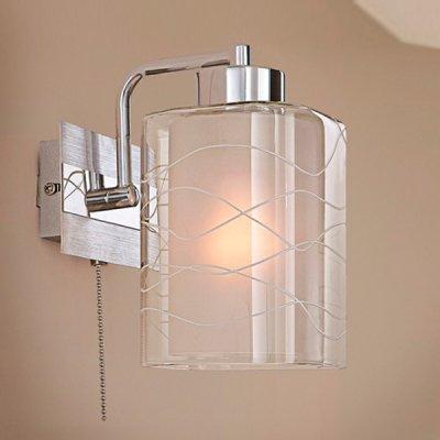 Citilux Прима CL160313 Светильник настенный браСовременные<br><br><br>S освещ. до, м2: 5<br>Тип лампы: накаливания / энергосбережения / LED-светодиодная<br>Тип цоколя: E27<br>Количество ламп: 1<br>Ширина, мм: 150<br>MAX мощность ламп, Вт: 75<br>Расстояние от стены, мм: 180<br>Высота, мм: 250<br>Цвет арматуры: серебристый хром, алюминий