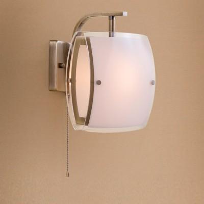 Citilux Берген CL161313 Светильник настенный браХай-тек<br><br><br>Тип лампы: Накаливания / энергосбережения / светодиодная<br>Тип цоколя: E27<br>Количество ламп: 1<br>Ширина, мм: 180<br>MAX мощность ламп, Вт: 75<br>Размеры: Ширина 18см, Высота  21см, Глубина 18см, С выключателем<br>Расстояние от стены, мм: 180<br>Высота, мм: 210<br>Цвет арматуры: бронзовый