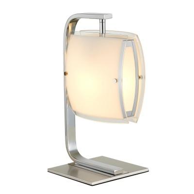 CL161811 Берген Хром Св-к НастольныйСовременные<br><br><br>Тип лампы: Накаливания / Светодиодные / Компактные люмин.<br>Тип цоколя: E27<br>Цвет арматуры: Хром<br>Количество ламп: 1<br>Ширина, мм: 180<br>Длина, мм: 200<br>Высота, мм: 350<br>Поверхность арматуры: Блестящая<br>MAX мощность ламп, Вт: 75<br>Общая мощность, Вт: 75