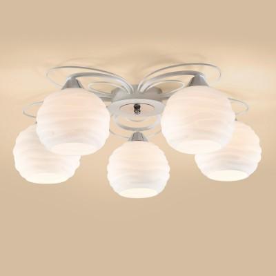 Citilux Николь CL168150 ЛюстраПотолочные<br><br><br>S освещ. до, м2: 25<br>Тип товара: Люстра<br>Тип лампы: накаливания / энергосбережения / LED-светодиодная<br>Тип цоколя: E27<br>Количество ламп: 5<br>MAX мощность ламп, Вт: 100<br>Диаметр, мм мм: 600<br>Высота, мм: 200<br>Цвет арматуры: белый