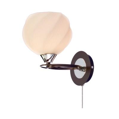 Citilux Николь CL168315 Светильник настенный браКлассические<br><br><br>Тип лампы: накаливания / энергосбережения / LED-светодиодная<br>Тип цоколя: E27<br>Количество ламп: 1<br>Ширина, мм: 230<br>MAX мощность ламп, Вт: 100<br>Длина, мм: 165<br>Высота, мм: 230<br>Цвет арматуры: Венге