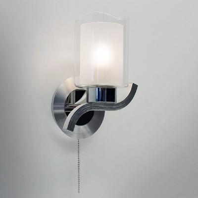 CL169311 Аэлита Светильник браСовременные<br>Ширина 17см, Высота 23см, Глубина 14см, С выключателем, Плафон составной с прозрачной и матовой частями, Арматура из алюминия и хромированной стали<br><br>Тип лампы: Накаливания / энергосбережения / светодиодная<br>Тип цоколя: E14<br>Количество ламп: 1<br>Ширина, мм: 170<br>MAX мощность ламп, Вт: 60<br>Расстояние от стены, мм: 140<br>Высота, мм: 230