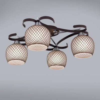 CL171142 Citilux СЮЗИПотолочные<br><br><br>Установка на натяжной потолок: Да<br>S освещ. до, м2: 15<br>Тип лампы: Накаливания / энергосбережения / светодиодная<br>Тип цоколя: E27<br>Цвет арматуры: коричневый<br>Количество ламп: 4<br>Ширина, мм: 470<br>Длина, мм: 470<br>Высота, мм: 240<br>MAX мощность ламп, Вт: 75