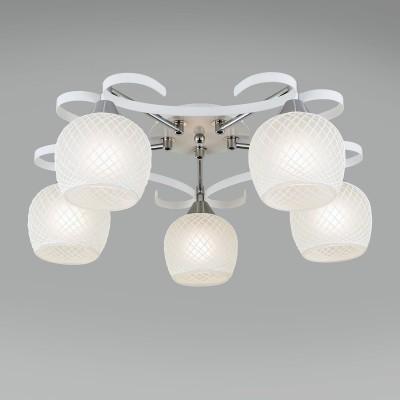 CL171151Потолочные<br><br><br>Установка на натяжной потолок: Да<br>S освещ. до, м2: 19<br>Тип лампы: Накаливания / энергосбережения / светодиодная<br>Тип цоколя: E27<br>Количество ламп: 5<br>MAX мощность ламп, Вт: 75<br>Диаметр, мм мм: 650<br>Высота, мм: 240