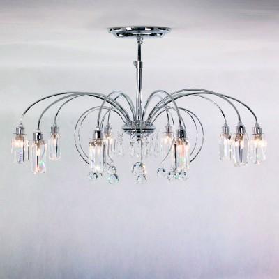 Citilux Калипсо CL211101 ЛюстраПотолочные<br><br><br>Установка на натяжной потолок: Ограничено<br>S освещ. до, м2: 25<br>Крепление: Планка<br>Тип товара: Люстра<br>Тип лампы: галогенная/LED<br>Тип цоколя: G9<br>Количество ламп: 10<br>MAX мощность ламп, Вт: 50<br>Диаметр, мм мм: 705<br>Высота, мм: 235<br>Цвет арматуры: серебристый