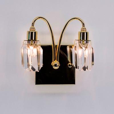 Citilux Калипсо CL211322 Светильник настенный браХрустальные<br><br><br>Тип лампы: галогенная/LED<br>Тип цоколя: G9<br>Количество ламп: 2<br>Ширина, мм: 100<br>MAX мощность ламп, Вт: 40<br>Длина, мм: 140<br>Высота, мм: 180<br>Цвет арматуры: Золотой