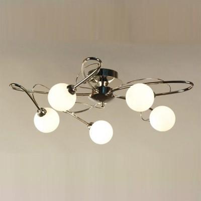 Citilux Монка CL215151 ЛюстраПотолочные<br>Стильная современная люстра Citilux CL215151 Монка предназначена для освещения помещения площадью до тринадцати кв.м., поэтому прекрасно впишется как в гостиную, так в спальню или в кухню. Оригинальная конструкция, «увенчанная» круглыми плафонами, притягивает к себе взгляд, и всегда будет являться не только источником света, но и восхищения Ваших гостей!<br><br>Установка на натяжной потолок: Ограничено<br>S освещ. до, м2: 13<br>Крепление: Планка<br>Тип лампы: галогенная / LED-светодиодная<br>Тип цоколя: G9<br>Количество ламп: 5<br>MAX мощность ламп, Вт: 40<br>Диаметр, мм мм: 600<br>Размеры: Диаметр 60см, Высота 18см, лампы G9 приложены<br>Высота, мм: 180<br>Поверхность арматуры: глянцевый<br>Цвет арматуры: серебристый
