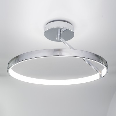 Citilux Джек CL226221 Люстра потолочнаялюстры хай тек потолочные<br><br><br>Тип лампы: LED - светодиодная<br>Тип цоколя: LED, встроенные светодиоды<br>Цвет арматуры: серебристый<br>Количество ламп: 1<br>Поверхность арматуры: блестящая<br>Оттенок (цвет): серебристый
