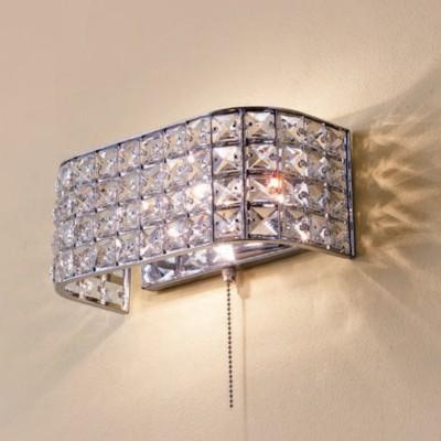 Citilux Портал CL324401 Светильник настенный браХрустальные<br><br><br>Тип лампы: Накаливания / энергосбережения / светодиодная<br>Тип цоколя: E14<br>Количество ламп: 2<br>Ширина, мм: 120<br>MAX мощность ламп, Вт: 60<br>Размеры: Ширина 26см, Высота 11см, Глубина 12см, Обечайка с хрусталем марки K9, С выключателем<br>Длина, мм: 260<br>Высота, мм: 110<br>Цвет арматуры: серебристый хром