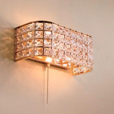 Citilux Портал CL324402 Светильник настенный браХрустальные<br><br><br>Тип лампы: Накаливания / энергосбережения / светодиодная<br>Тип цоколя: E14<br>Количество ламп: 2<br>Ширина, мм: 120<br>MAX мощность ламп, Вт: 60<br>Размеры: Ширина 26см, Высота 11см, Глубина 12см, Обечайка с хрусталем марки K9, С выключателем<br>Длина, мм: 260<br>Высота, мм: 110<br>Цвет арматуры: золотой