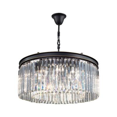 Citilux CL332121 Мартин Светильник Люстраподвесные хрустальные люстры<br><br><br>Установка на натяжной потолок: Да<br>S освещ. до, м2: 36<br>Тип лампы: Накаливания / энергосбережения / светодиодная<br>Тип цоколя: E14<br>Цвет арматуры: черный<br>Количество ламп: 12<br>Диаметр, мм мм: 600<br>Высота, мм: 650 - 1100<br>MAX мощность ламп, Вт: 60