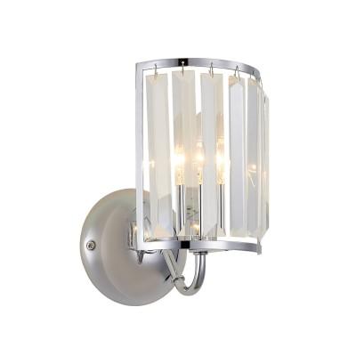 CL333311 Грета Хром Св-к БраСовременные<br><br><br>S освещ. до, м2: 3<br>Тип лампы: Накаливания / Галогеновые / Светодиодные / Компактные люмин.<br>Тип цоколя: Е14<br>Цвет арматуры: Хром<br>Количество ламп: 1<br>Ширина, мм: 135<br>Расстояние от стены, мм: 185<br>Высота, мм: 220<br>Поверхность арматуры: Блестящая<br>MAX мощность ламп, Вт: 60<br>Общая мощность, Вт: 60