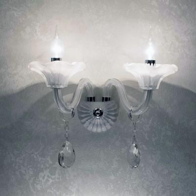 Citilux Ирида CL351320 Светильник настенный браХрустальные<br><br><br>Тип лампы: Накаливания / энергосбережения / светодиодная<br>Количество ламп: 2<br>Цвет арматуры: серебристый