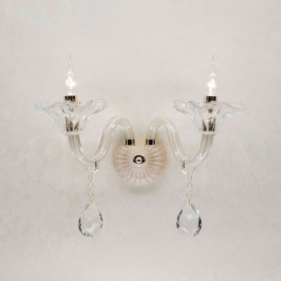 Citilux Ирида CL351321 Светильник настенный браХрустальные<br><br><br>Тип лампы: Накаливания / энергосбережения / светодиодная<br>Количество ламп: 2<br>Цвет арматуры: серебристый