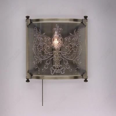 Citilux Версаль CL408313R Светильник настенный браКлассика<br><br><br>Тип цоколя: E14<br>Количество ламп: 1<br>Ширина, мм: 220<br>MAX мощность ламп, Вт: 60W<br>Расстояние от стены, мм: 90<br>Высота, мм: 240<br>Цвет арматуры: бронзовый, венге