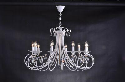 Citilux Джесси CL410102 Люстра подвеснаяПодвесные<br><br><br>Установка на натяжной потолок: Да<br>S освещ. до, м2: 40<br>Крепление: Крюк<br>Тип товара: Люстра подвесная<br>Тип лампы: накаливания / энергосбережения / LED-светодиодная<br>Тип цоколя: E14<br>Количество ламп: 10<br>MAX мощность ламп, Вт: 60<br>Диаметр, мм мм: 900<br>Размеры: Диаметр 90см, Высота 70-120см, Литые декоративные элементы + Хрусталь<br>Поверхность арматуры: глянцевый<br>Цвет арматуры: белый