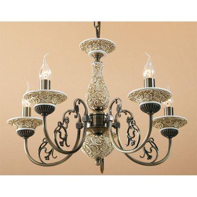 Citilux Диана CL421151 Люстра подвеснаяПодвесные<br><br><br>Установка на натяжной потолок: Да<br>S освещ. до, м2: 20<br>Крепление: Крюк<br>Тип товара: Люстра подвесная<br>Тип лампы: накаливания / энергосбережения / LED-светодиодная<br>Тип цоколя: E14<br>Количество ламп: 5<br>MAX мощность ламп, Вт: 60<br>Диаметр, мм мм: 580<br>Размеры: Диаметр 58см, Высота 60-140см<br>Высота, мм: 600 - 1400<br>Поверхность арматуры: глянцевый, рельефный<br>Цвет арматуры: бронзовый