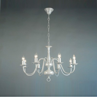 Citilux CL426181 Люстра подвеснаяПодвесные<br><br><br>Установка на натяжной потолок: Да<br>S освещ. до, м2: 24<br>Крепление: Крюк<br>Тип товара: Люстра подвесная<br>Скидка, %: 13<br>Количество ламп: 8<br>MAX мощность ламп, Вт: 60<br>Размеры: Диаметр 72см, Высота 52-120см, Краска с перламутровым эффектом.<br>Поверхность арматуры: глянцевый<br>Цвет арматуры: белый