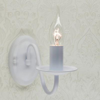 Citilux Бонна CL426310 Светильник настенный браКлассические<br><br><br>Тип лампы: Накаливания / энергосбережения / светодиодная<br>Тип цоколя: E14<br>Количество ламп: 1<br>MAX мощность ламп, Вт: 60<br>Размеры: Ширина 12см, Высота 19см, Глубина 22см, Краска с перламутровым эффектом, с выключателем<br>Цвет арматуры: белый
