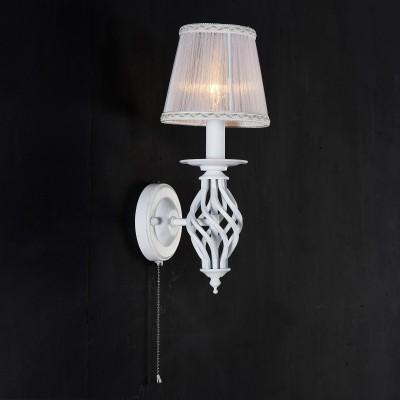 Citilux Ровена CL427310 Светильник настенный браКлассические<br><br><br>Тип лампы: накаливания / энергосбережения / LED-светодиодная<br>Тип цоколя: E14<br>Количество ламп: 1<br>Ширина, мм: 145<br>MAX мощность ламп, Вт: 60<br>Расстояние от стены, мм: 170<br>Высота, мм: 340<br>Цвет арматуры: белый