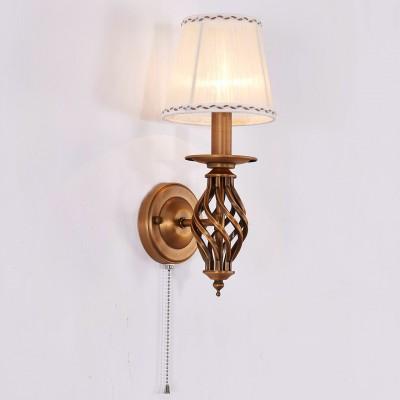 Citilux Ровена CL427311 Светильник настенный браКлассические<br><br><br>Тип лампы: накаливания / энергосбережения / LED-светодиодная<br>Тип цоколя: E14<br>Количество ламп: 1<br>Ширина, мм: 145<br>MAX мощность ламп, Вт: 60<br>Расстояние от стены, мм: 170<br>Высота, мм: 340<br>Цвет арматуры: бронзовый