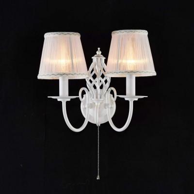 Citilux Ровена CL427320 Светильник настенный браКлассика<br><br><br>Тип товара: Светильник настенный бра<br>Тип лампы: накаливания / энергосбережения / LED-светодиодная<br>Тип цоколя: E14<br>Количество ламп: 2<br>Ширина, мм: 360<br>MAX мощность ламп, Вт: 60<br>Расстояние от стены, мм: 240<br>Высота, мм: 290<br>Цвет арматуры: белый
