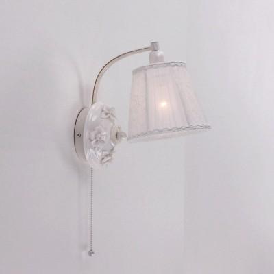 Citilux Боргези CL431311 Светильник настенный браФлористика<br><br><br>Тип товара: Светильник настенный бра<br>Тип лампы: Накаливания / энергосбережения / светодиодная<br>Тип цоколя: E14<br>Количество ламп: 1<br>Ширина, мм: 220<br>MAX мощность ламп, Вт: 60<br>Длина, мм: 160<br>Высота, мм: 260<br>Цвет арматуры: белый