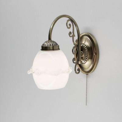 Citilux Кампана CL432311 Светильник настенный браФлористика<br><br><br>Тип лампы: накаливания / энергосбережения / LED-светодиодная<br>Тип цоколя: E27<br>Количество ламп: 1<br>Ширина, мм: 280<br>Длина, мм: 145<br>Высота, мм: 235<br>MAX мощность ламп, Вт: 75