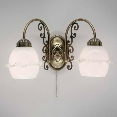 Citilux Кампана CL432321 Светильник настенный браФлористика<br><br><br>Тип лампы: накаливания / энергосбережения / LED-светодиодная<br>Тип цоколя: E27<br>Количество ламп: 2<br>Ширина, мм: 225<br>MAX мощность ламп, Вт: 75<br>Длина, мм: 425<br>Высота, мм: 235