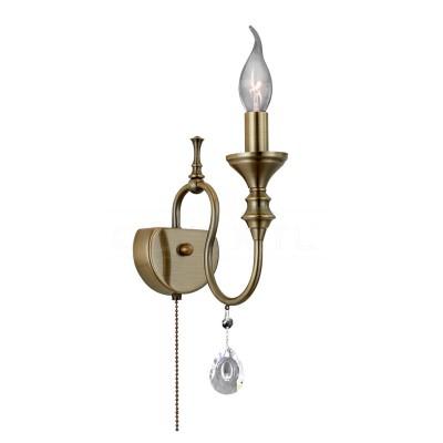 Citilux Рига CL437313 Светильник настенный браКлассические<br><br><br>Тип лампы: Накаливания / энергосбережения / светодиодная<br>Тип цоколя: E14<br>Количество ламп: 1<br>Ширина, мм: 200<br>Длина, мм: 230<br>Высота, мм: 125<br>MAX мощность ламп, Вт: 60